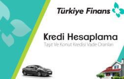 Türkiye Finans Kredi Hesaplama Taşıt Ve Konut Kredisi Vade Oranları